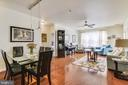Dining & Sunny Living Room with Ceiling Fan - 22725 THIMBLEBERRY SQ #203, BRAMBLETON