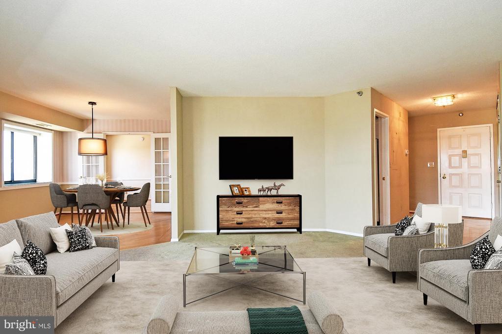 Living Room and Dining Room furnished - 900 N STAFFORD ST #2531, ARLINGTON