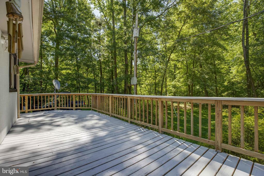 Large deck for entertaining / enjoying nature - 7287 TOKEN VALLEY RD, MANASSAS