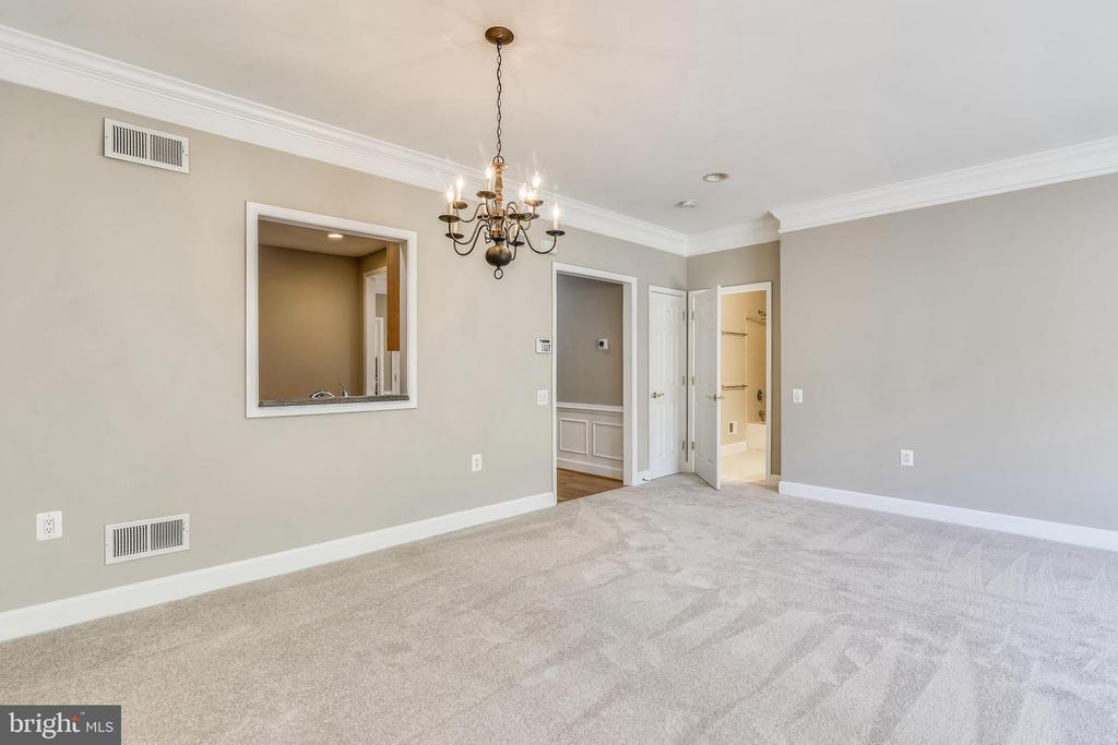 Dining Room With Chandelier & Crown Molding - 44484 MALTESE FALCON SQ, ASHBURN