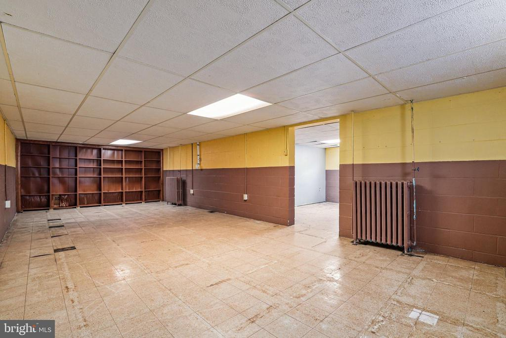 Basement  had carpet squares that were removed - 13709 STRAFFORD DR, THURMONT