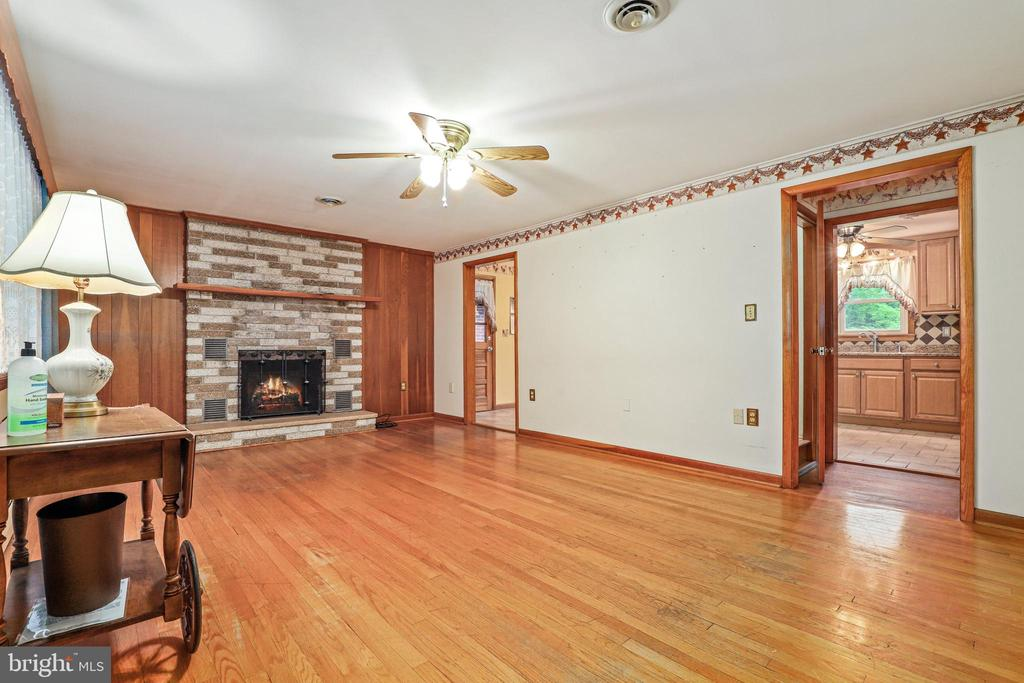 Nice fireplace with mantel - 13709 STRAFFORD DR, THURMONT