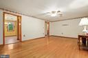 Family room = love the hardwoods - 13709 STRAFFORD DR, THURMONT