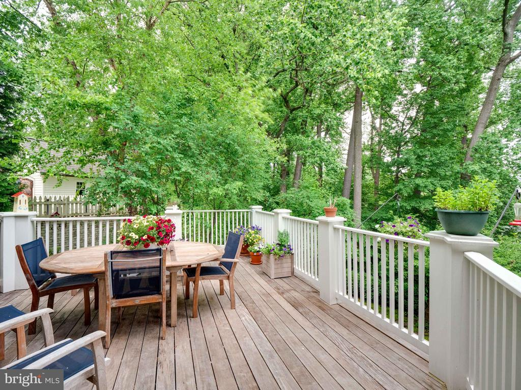 Rear private deck with stairs to the rear yard - 4651 35TH ST N, ARLINGTON