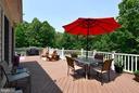 Huge composite deck w/vinyl railings - 4 AVOCET WAY, FREDERICKSBURG