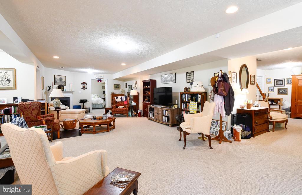 Rec room with corner fireplace - 4 AVOCET WAY, FREDERICKSBURG