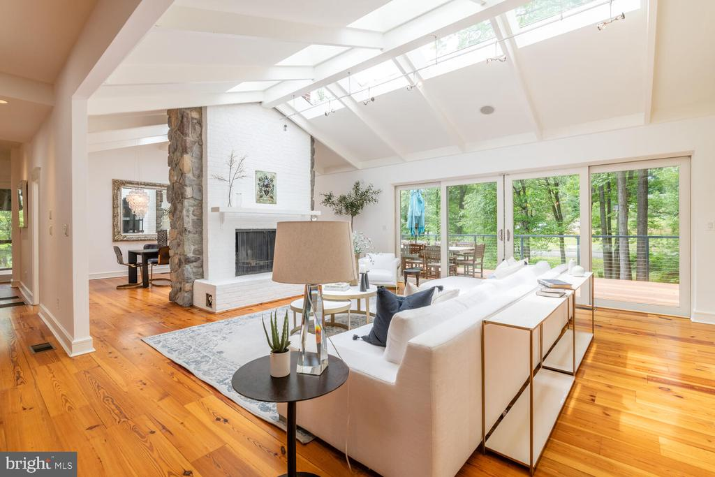 Living room with natural sun light from skylights - 5075 POLK AVE, ALEXANDRIA