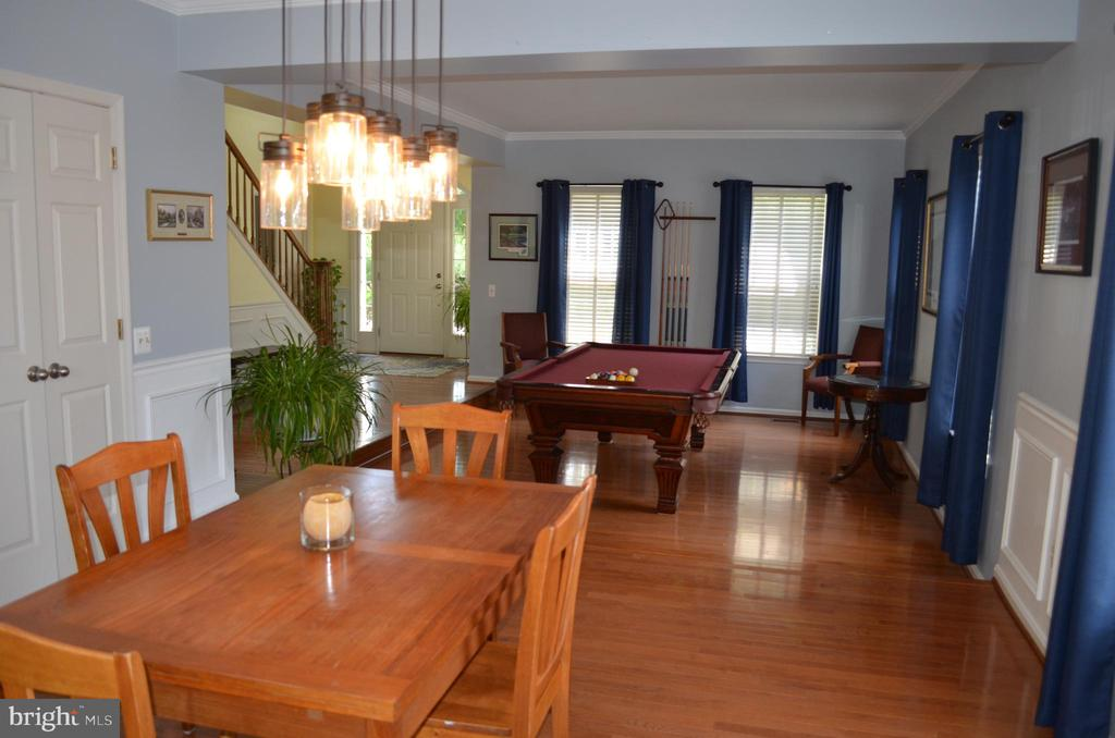 Wait, what? Is that a pool table in the living rm? - 6304 SPRING FOREST RD, FREDERICK