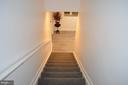 Heading to the fully-finished basement - 6304 SPRING FOREST RD, FREDERICK