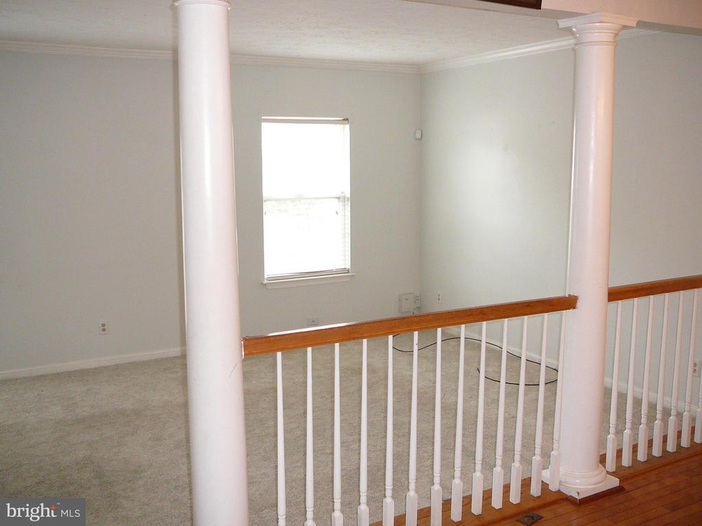 View from the Columned Dining area to the Lv. Rm! - 208 ROVER CT, STAFFORD