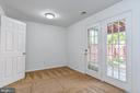Finished lower level with walk-out to  courtyard - 3020 KINGS VILLAGE RD, ALEXANDRIA