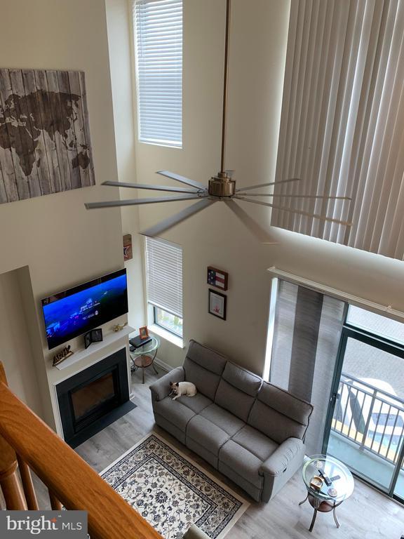 Fireplace view from Loft to Main level - 9020 LORTON STATION BLVD #1-114, LORTON