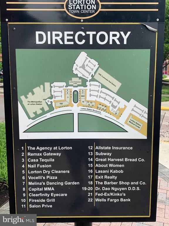 Directory of local shops - 9020 LORTON STATION BLVD #1-114, LORTON
