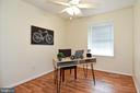 Bedroom 3- versatile space for office or bedroom. - 6463 FENESTRA CT #50C, BURKE