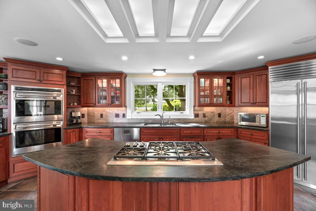Solid wood cherry cabinetry - 12645 OLD FREDERICK RD, SYKESVILLE