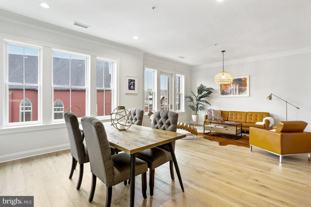 DINING/LIVING ROOM - 1210 R ST NW #314, WASHINGTON