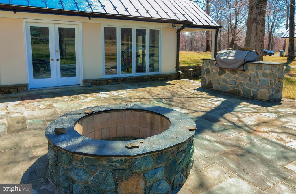 Side Terrace with Fire pit and Grill - 20022 TRAPPE RD, BLUEMONT