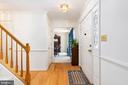 Foyer with Hardwood Floors - 13 SYDNEY LN, STAFFORD