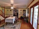 Dining Room w Double Atrium Doors to Porch - 420 RUSSELL RD, BERRYVILLE