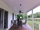 Relaxine Porch Area with Two Fans - 420 RUSSELL RD, BERRYVILLE