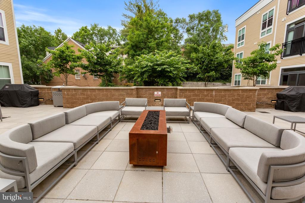 Residents' Terrance with Firepit and Grill - 989 S BUCHANAN ST #421, ARLINGTON