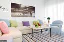 A media room adjoins the living room - 1177 22ND ST NW #9G, WASHINGTON