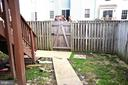 All Fenced in Patio with walkway - 3636 MCDOWELL CT, DUMFRIES