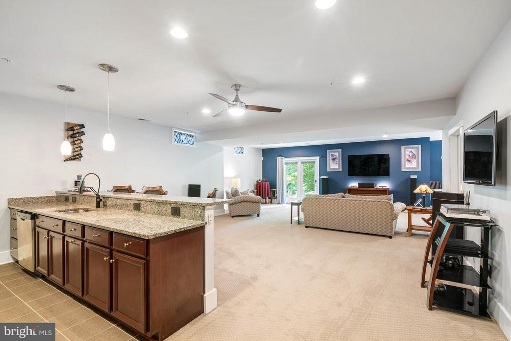 The rec room is outstanding 1500+ sq ft - 17037 SILVER ARROW DR, DUMFRIES