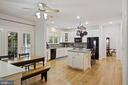 with doors to the screened porch - 1114 HEARTFIELDS DR, SILVER SPRING