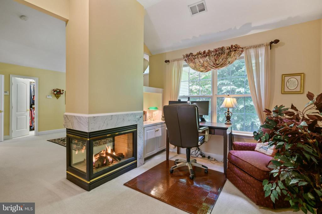 2-Sided Gas Fireplace in Primary Bedroom - 6191 TREYWOOD LN, MANASSAS