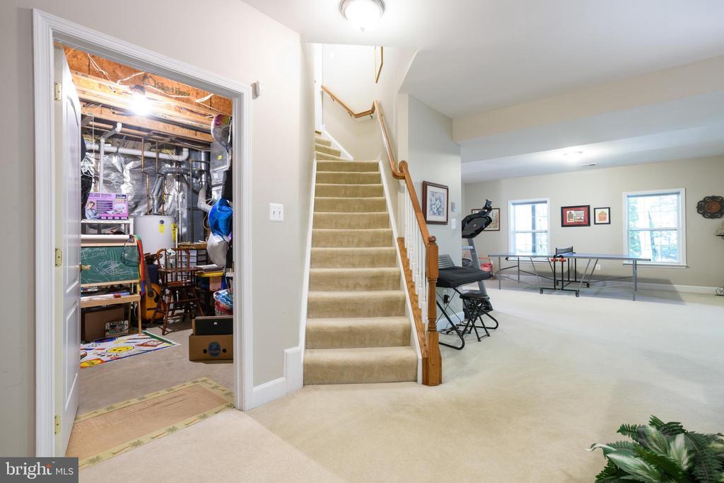 Lower Level Storage room and Rec Room - 6191 TREYWOOD LN, MANASSAS