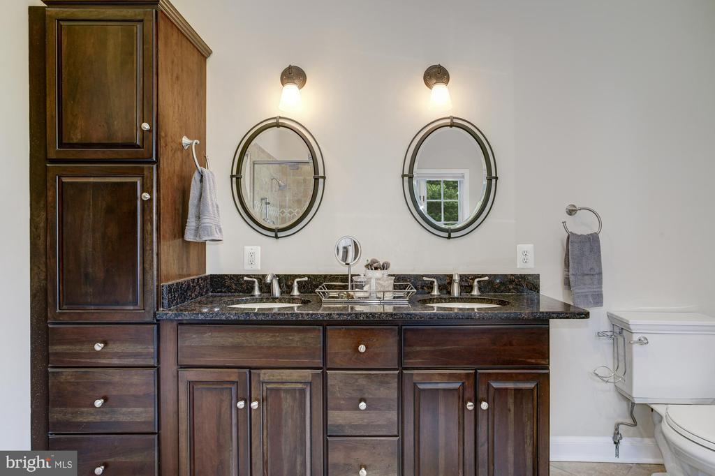 Modern owner's bath has ample storage - 8622 GARFIELD ST, BETHESDA