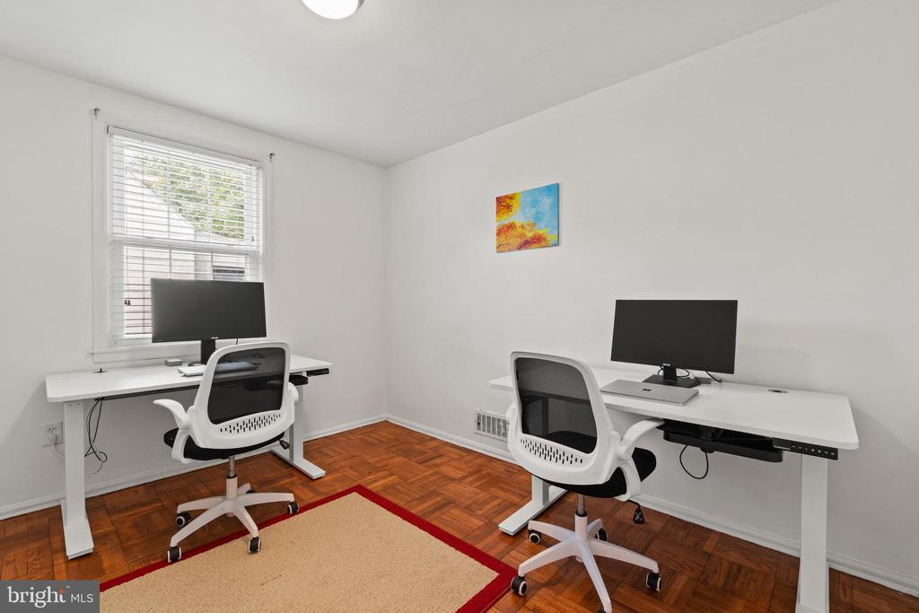 Main level bedroom 1 is currently a home office. - 2915 MONROE PL, FALLS CHURCH