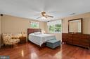 Roomy primary suite overlooks beautiful backyard. - 2915 MONROE PL, FALLS CHURCH