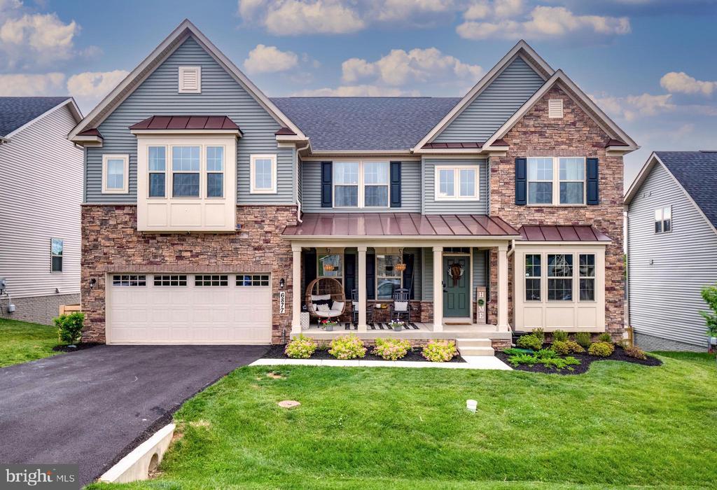 Stone & Siding Elevation - 6877 WOODRIDGE RD, NEW MARKET