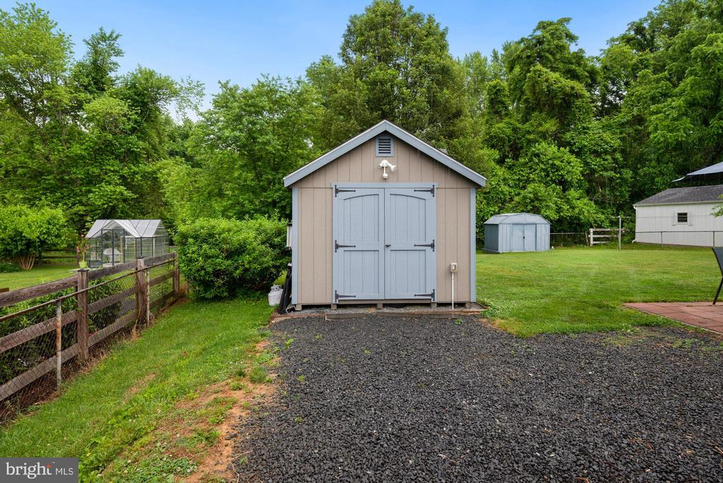 Shed #1 with Electricity - 17516 HARMONY CHURCH RD, HAMILTON