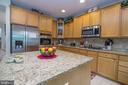 Spacious Kitchen with Granite, SS Appliances - 53 CARRIAGE HILL DR, FREDERICKSBURG