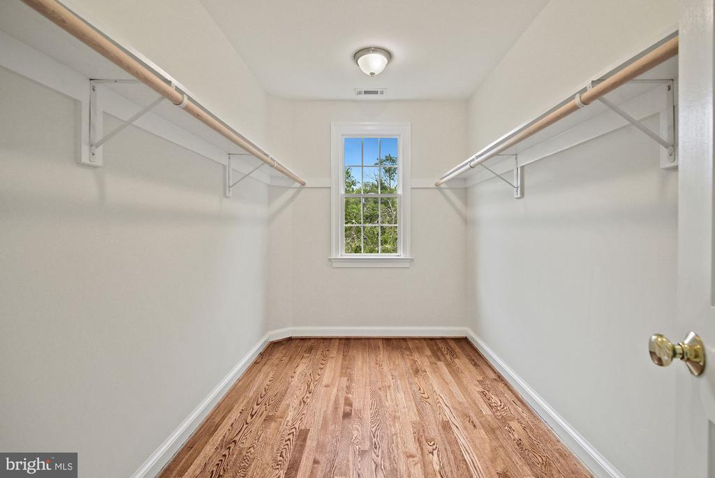light filled walk in closet in  primary bedroom - 7907 GLENBROOK RD, BETHESDA