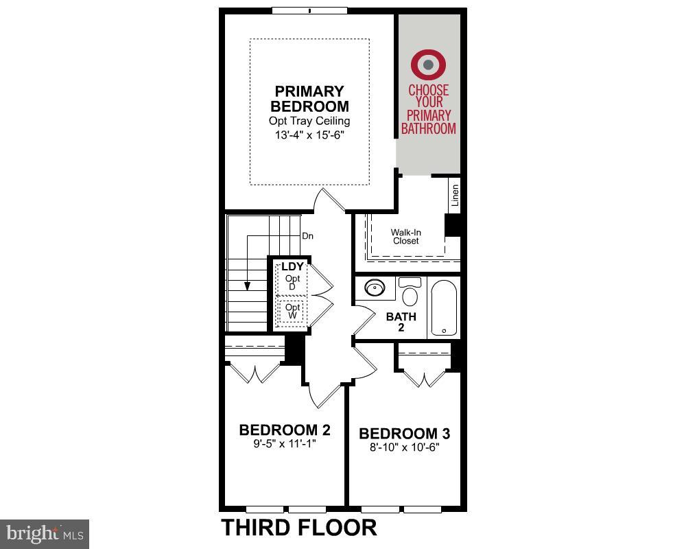 Third Level Floor Plan - 1234 MEADOWLARK GLEN RD, DUMFRIES