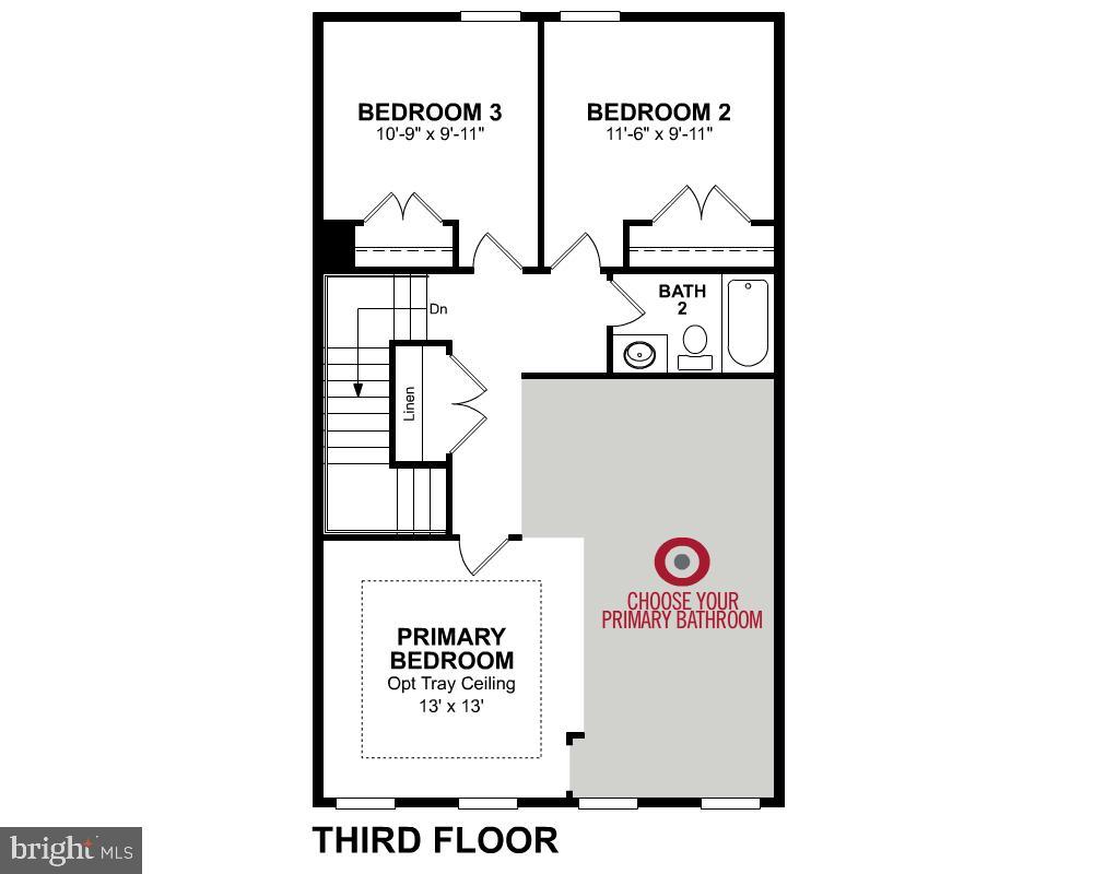 Third Level Floor Plan - 2345 MEADOWLARK GLEN RD, DUMFRIES