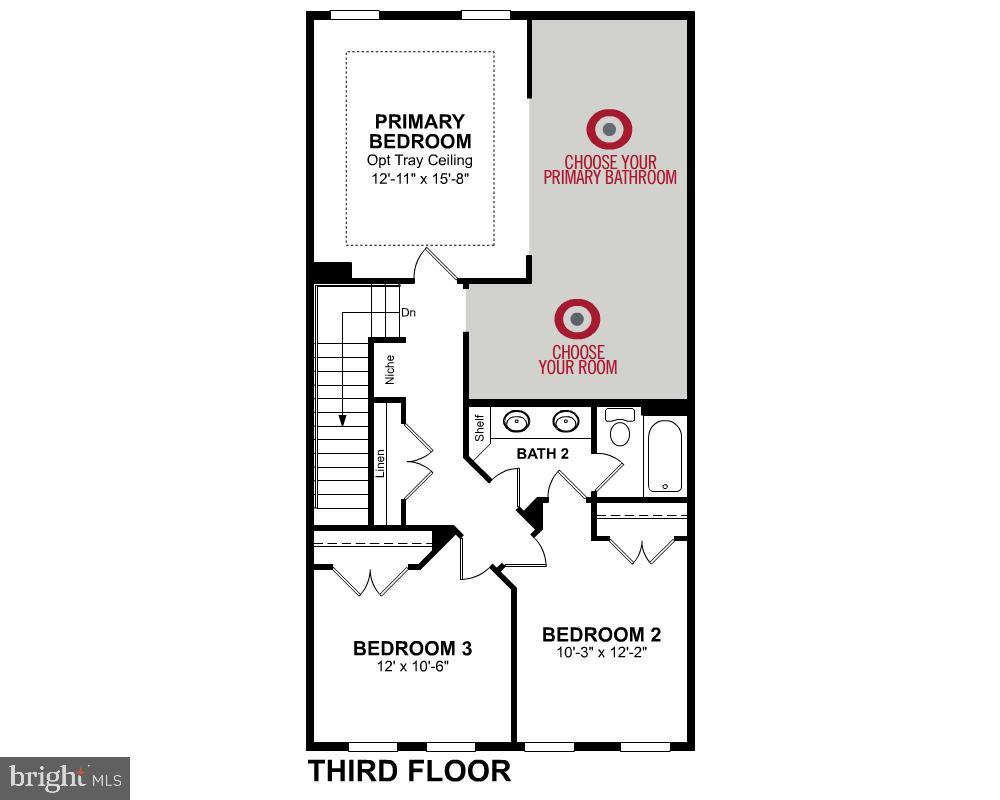 Third Level Floor Plan - 3456 MEADOWLARK GLEN RD, DUMFRIES