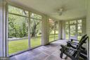 Inviting screened porch overlooking the yard - 900 MCCENEY AVE, SILVER SPRING