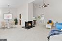 Living/Dining Room - 11300 LINKS CT, RESTON