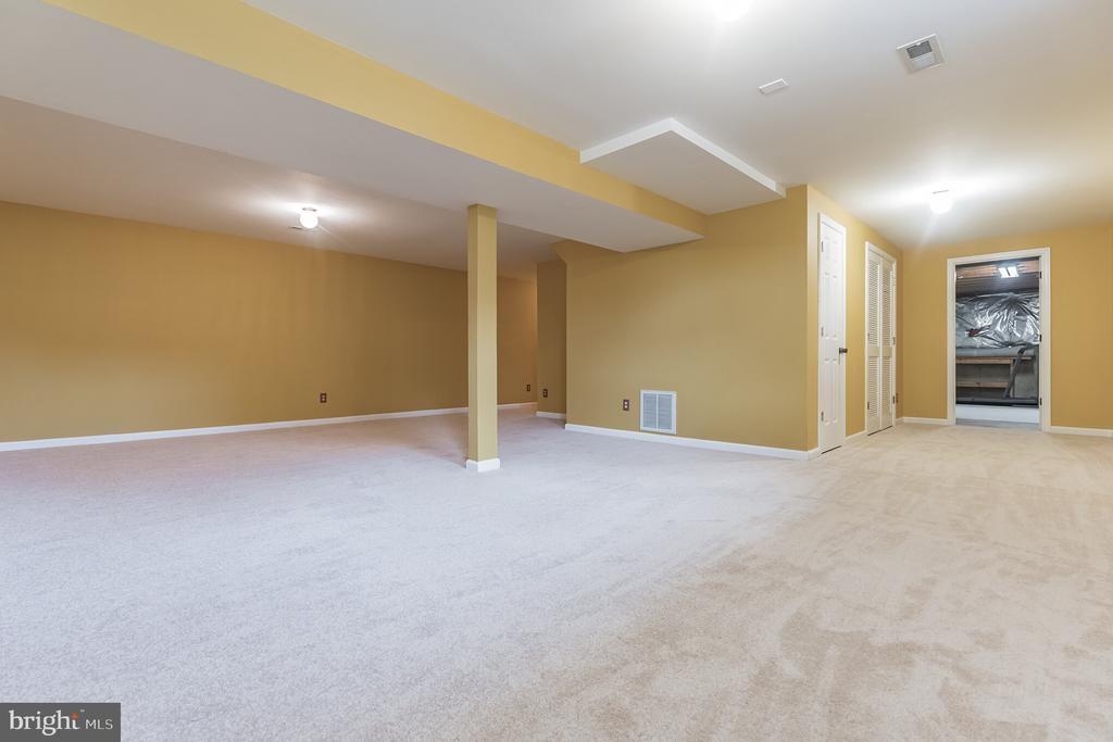 Huge lower level rec room - 133 NORTHAMPTON BLVD, STAFFORD