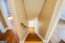 Hallway to downstairs - 21358 JEFFERSON DAVIS HWY, RUTHER GLEN
