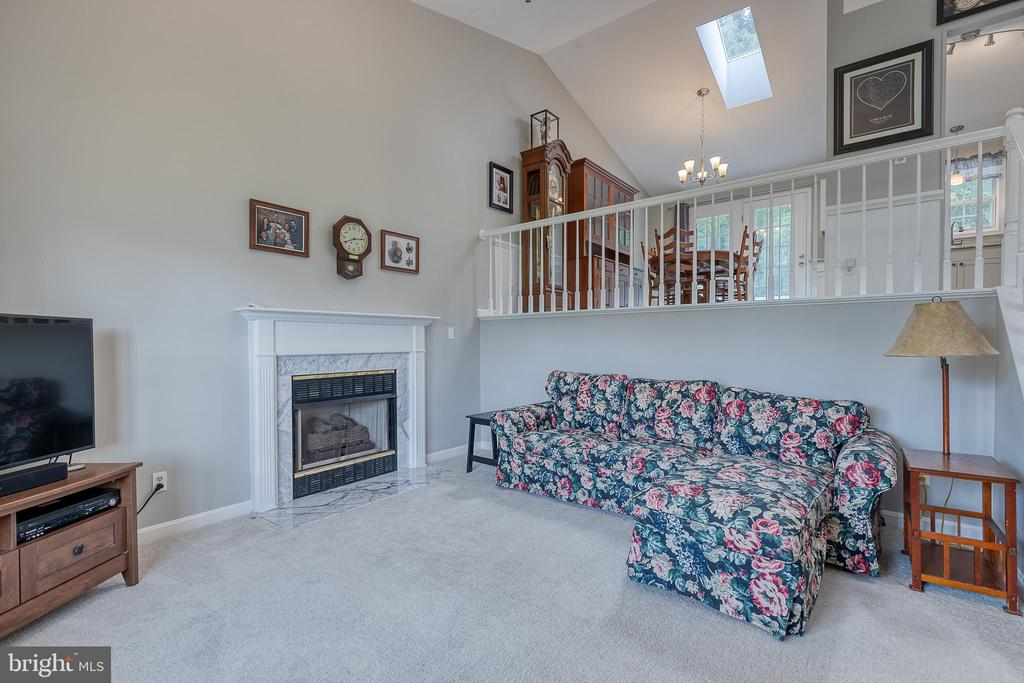 Separate living room with gas fireplace - 7420 LAURA LN, FREDERICKSBURG