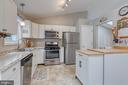 Kitchen with Stainless Steel Appliances - 7420 LAURA LN, FREDERICKSBURG
