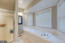 Primary bath with separate shower and soaking tub. - 7420 LAURA LN, FREDERICKSBURG