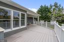 Exterior Rear Deck - 10910 BELMONT BLVD, LORTON