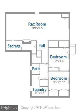 Lower level floor plan - 6801 GRANBY ST, BETHESDA